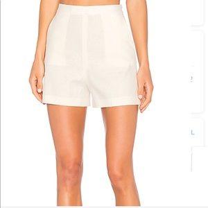 7af7b34701c50 Theory Shorts - Theory Tarrytown High Waist Stretch Linen Shorts
